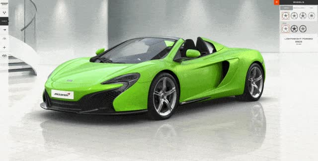 Watch and share McLaren Spider Builder Wheels Calipers Brakes And Tires GIFs on Gfycat
