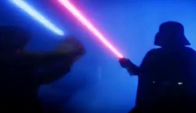 Watch and share Darth Vader VS Luke GIFs on Gfycat