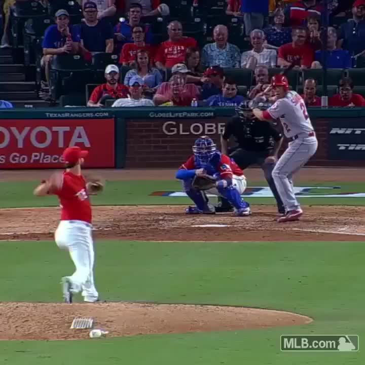 baseball, Pitcher makes an impressive no-look, behind-the-back catch GIFs
