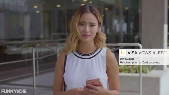 Watch this funny or die GIF by Funny Or Die (@funnyordie) on Gfycat. Discover more fod, funny or die, funnyordie, jamie chung, visa vows the wedding expenses credit card GIFs on Gfycat