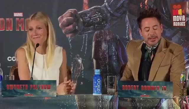 Watch and share Robert Downey Jr GIFs and Gwyneth Paltrow GIFs on Gfycat