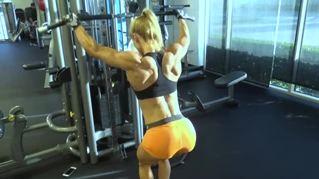 Watch and share Female Bodybuilder GIFs and Girls With Muscle GIFs on Gfycat