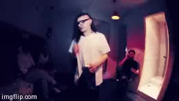 Watch tight in white  GIF on Gfycat. Discover more DJ, EDM, FFTL, dj, dub, dubstep, edm, fftl, from first to last, gypsyhook, sjm, skrillex, skrillex gif, skrillex gifs, sonny john moore, sonny moore, twipz, wearing white, white, wub GIFs on Gfycat