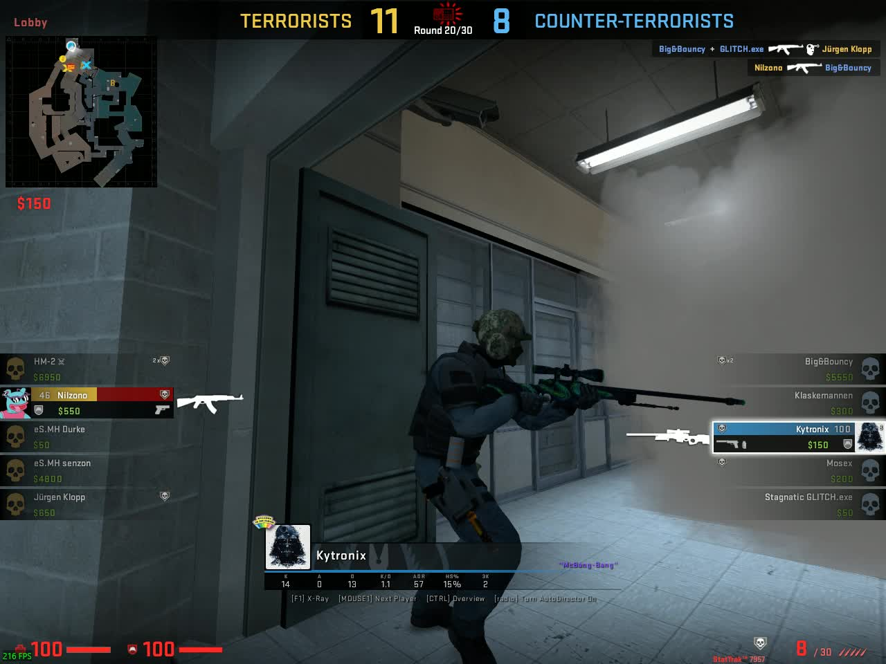 AWP, CS:GO, CSGO, CT, Clutch, Counter-Strike, Global, Offensive, Overpass, Quick, Scope, Counter-strike Global Offensive: Quick-Scope GIFs