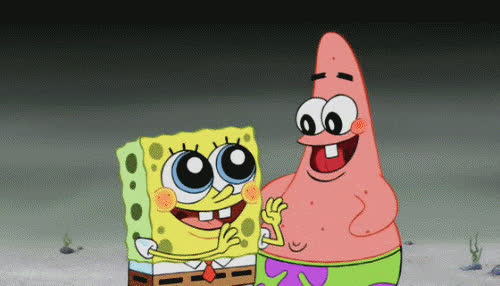 awesome, celebrate, excited, happy, hurray, patrick, spongebob, thrilled, yay, Spongebob and Patrick Excited GIFs