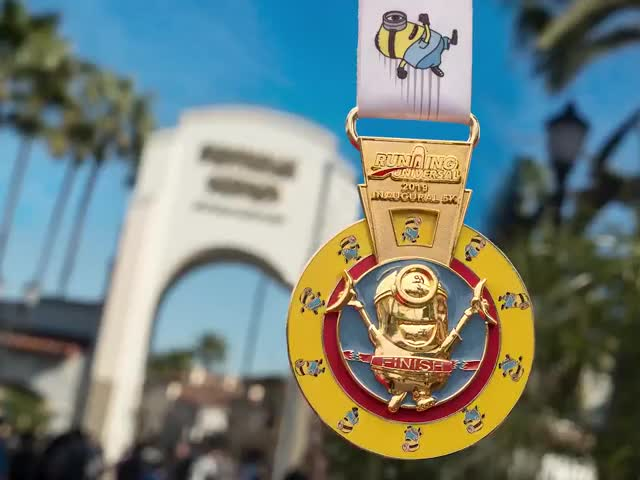 Watch and share Universal Studios Hollywood - The Inaugural Running Universal 5K At Universal Studios Hollywood Is Almost Here, And The Medal Is So Fun It's GIFs on Gfycat