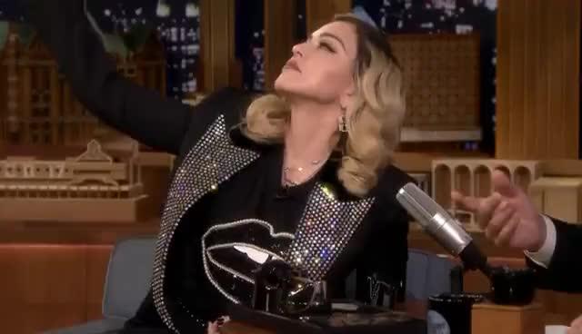 madonna, Madonna Serenades Jimmy as She Gives Him a MDNA Facial GIFs