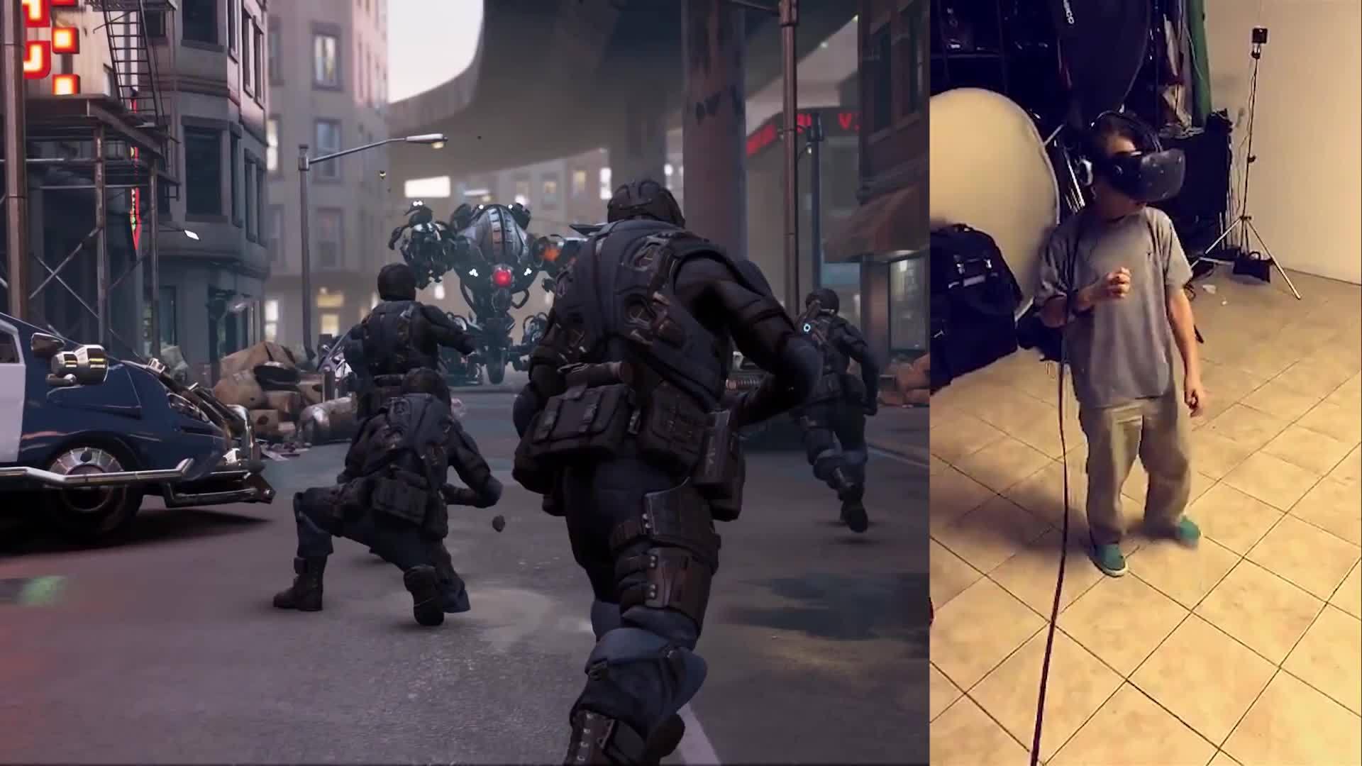 htc, virtualreality, vive, Kid reacts to virtual reality demo on HTC Vive GIFs