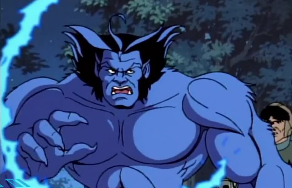 anger, angry, attack, avengers, beast, cartoon, fight, hit, hurt, x men, x-men, xmen, Evolution of the Beast in movies and cartoons GIFs