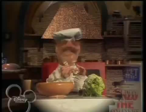 Salad, Show, brussells, cabbage, chef, gun, lettuce, muppets, sprouts, swedish, Swedish Chef - Salad GIFs