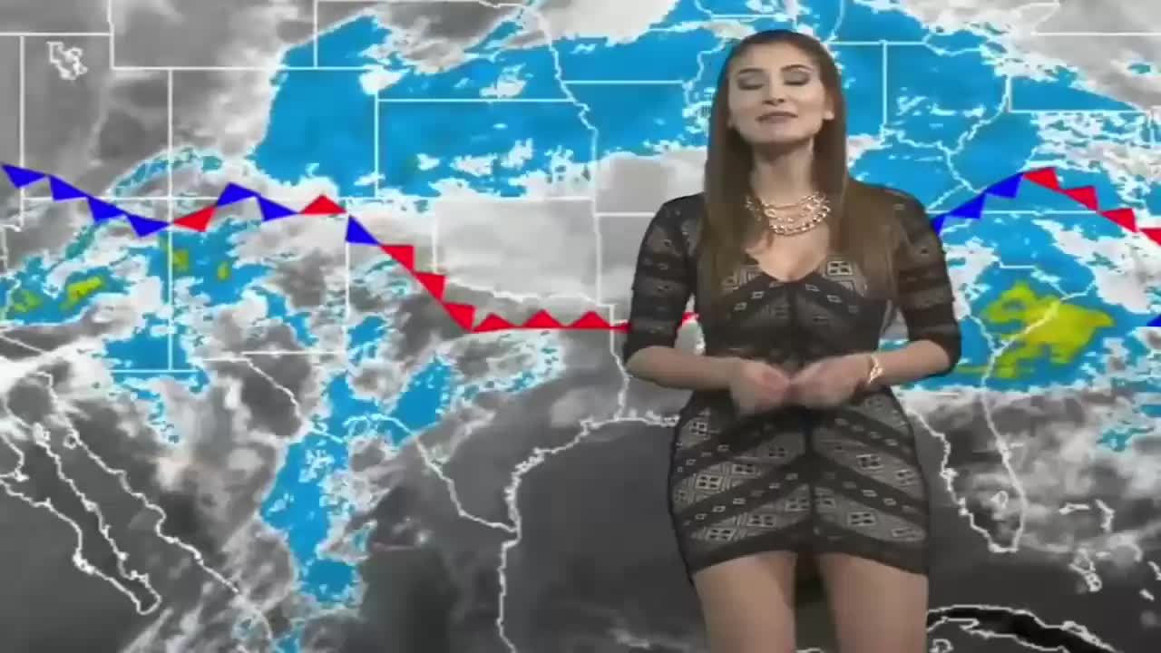 Argentina's hottest weather girl tries naked bikini trend with very sexy results