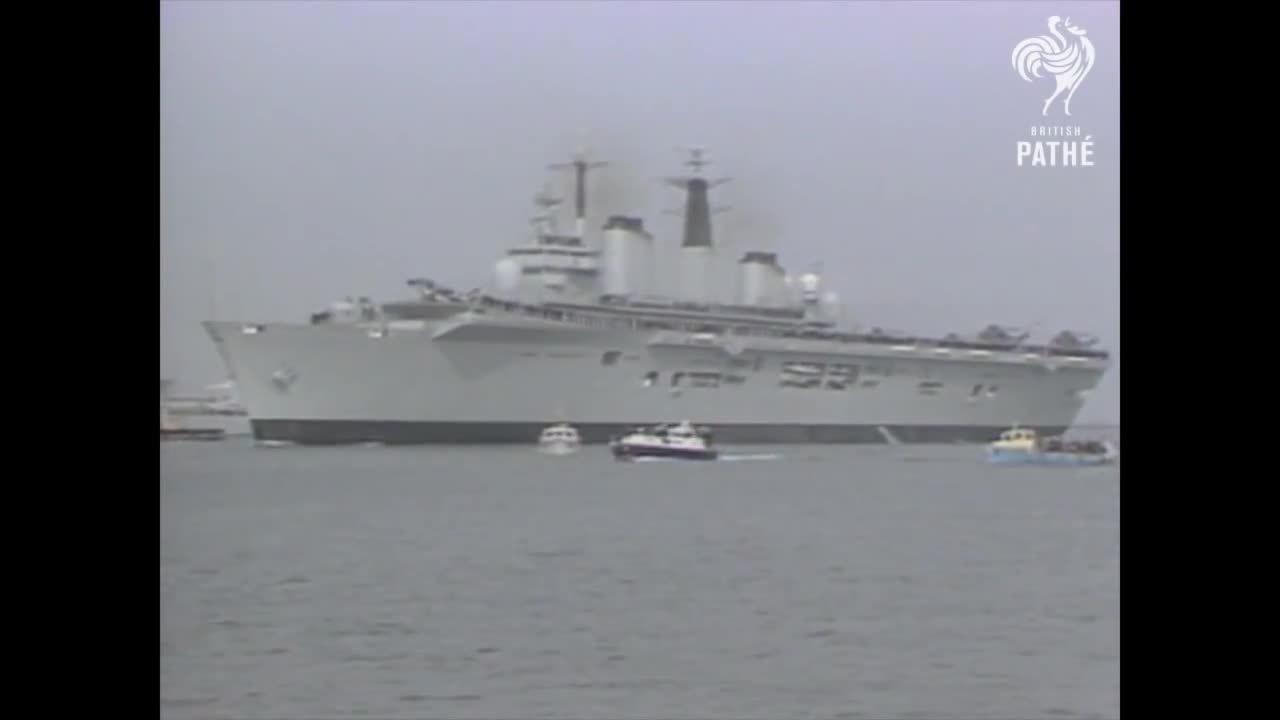 WarshipGfys, warshipgfys, British Task Force Sail To Falkand Islands (1982) (reddit) GIFs