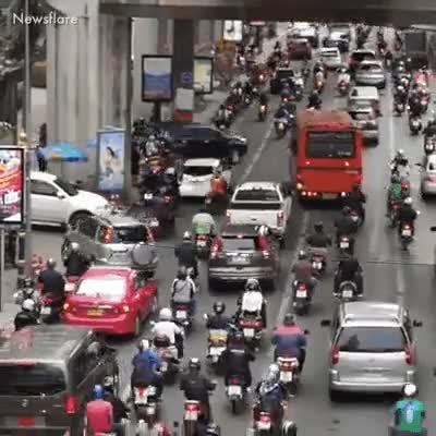 Watch and share Traffic In Bangkok  GIFs by LimeLights  on Gfycat
