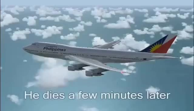 Watch and share FS2004 - Bomb On Board (Philippine Airlines Flight 434) GIFs on Gfycat