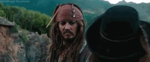 Watch and share Captain Jack Sparrow And Angelica GIFs on Gfycat