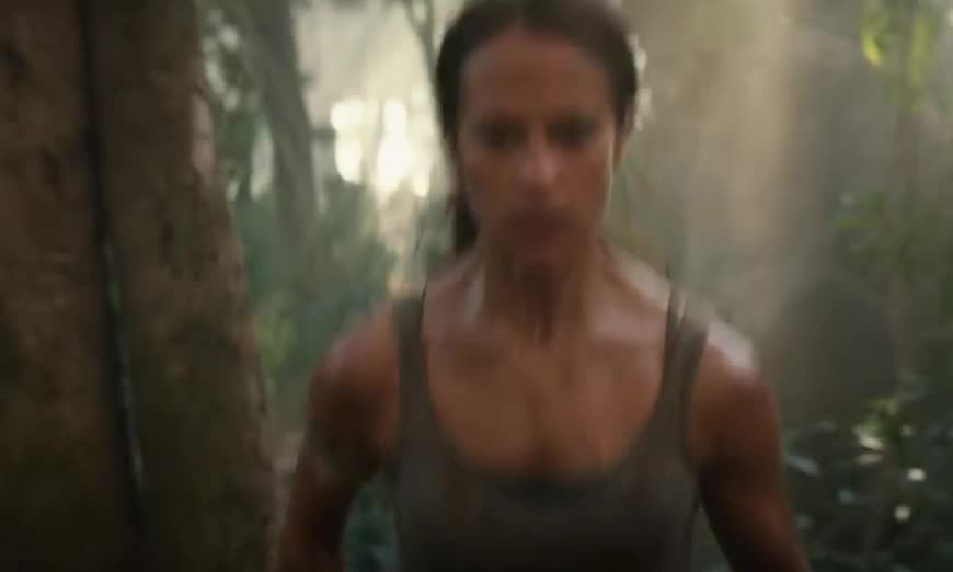 come, coming, fast, go, hot, hurry, hurry up, my, now, omw, on, on my way, raider, run, tomb, way, TOMB RAIDER - Official Trailer #1 GIFs