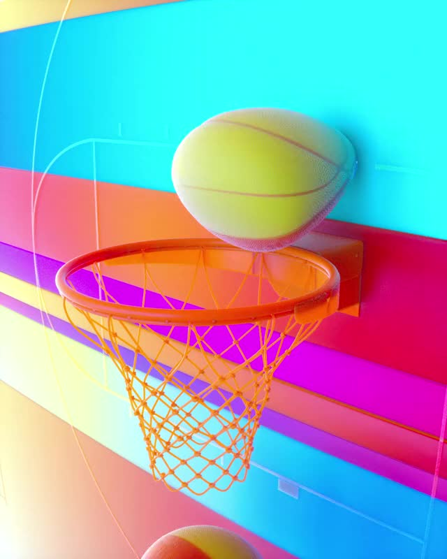 Watch and share Digital Art GIFs and Basketball GIFs by Locked And Loading on Gfycat