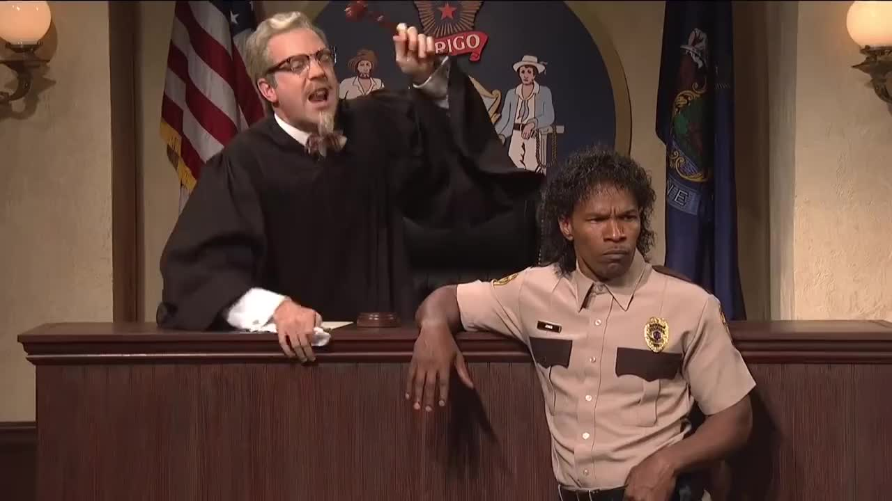 Gators, Louisiana, SNL, bailiff, bayou, courtroom, creole, judge, jury, Maine Justice GIFs