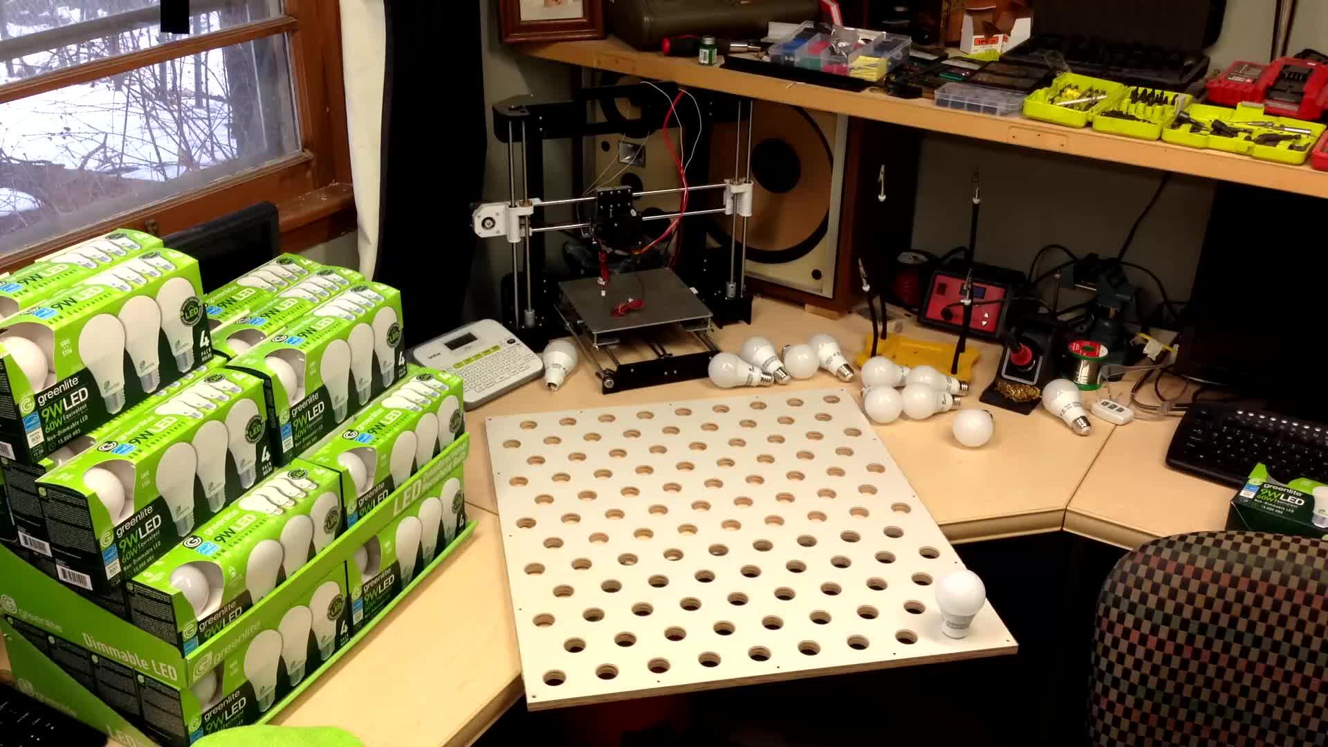 DIY, Timelapse, 108 Light Bulb Project! GIFs