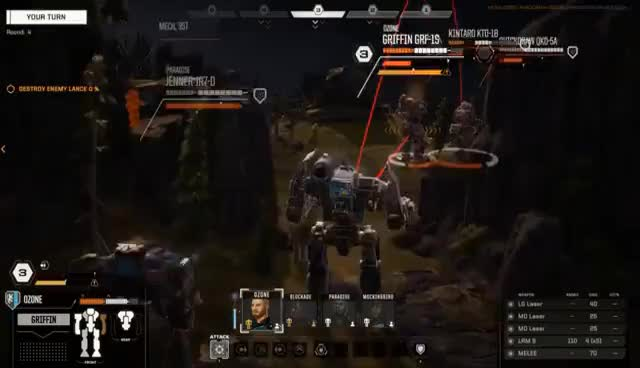 Battletech Beta Scenario - The Danzig Debacle - Debug Cam Gameplay GIFs