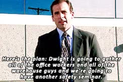 Watch and share The Office Safety Training GIFs on Gfycat