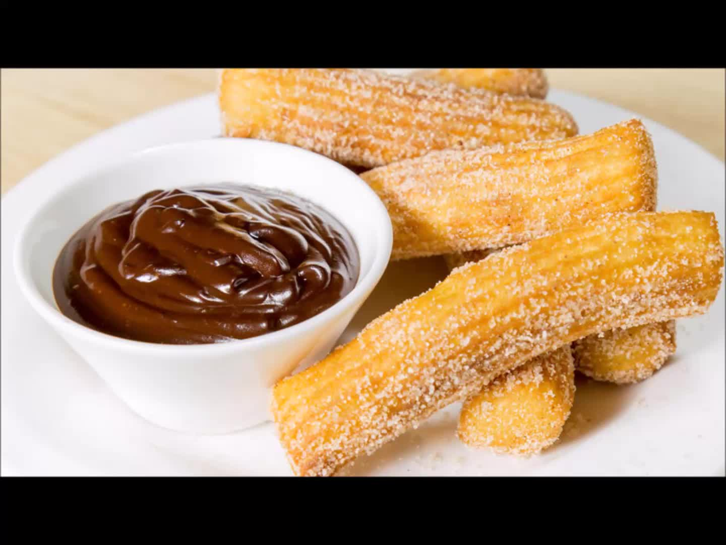 Churros with Chocolate Sauce GIFs