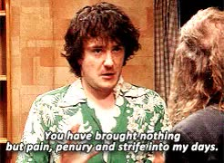 Watch never ever bloody anything ever GIF on Gfycat. Discover more *, *bb, bill bailey, black books, colourfulmotion, dylan moran, newfluffytowns, s:black books, teflonly GIFs on Gfycat