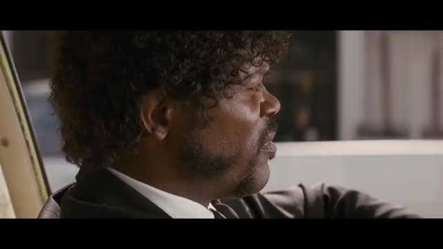 Watch Pulp Fiction | 'Royale w/ Cheese' (HD) - John Travolta, Samuel L. Jackson | MIRAMAX GIF on Gfycat. Discover more Bruce Willis, John Travolta, Jules, Kahuna Burger, Miramax, Pulp Fiction, Quentin Tarantino, Samuel L Jackson, Uma Thurman, Vincent GIFs on Gfycat