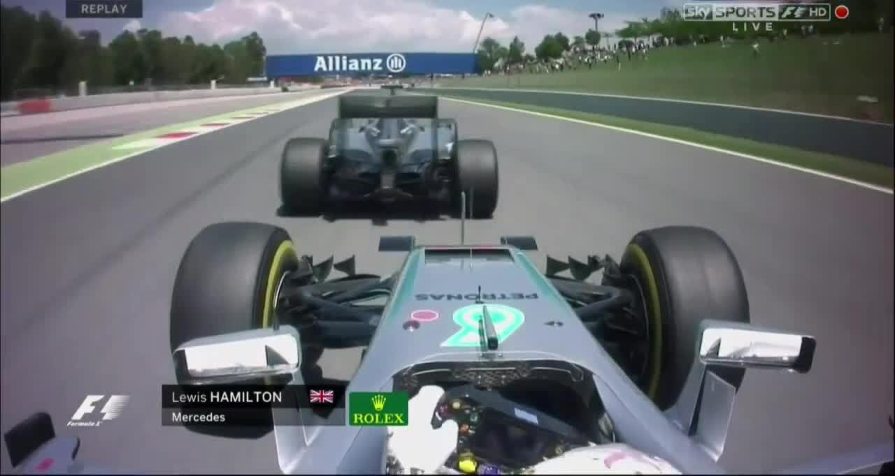formula1, [GIF] When Rosberg initiates closing door move | Hamilton's view (reddit) GIFs
