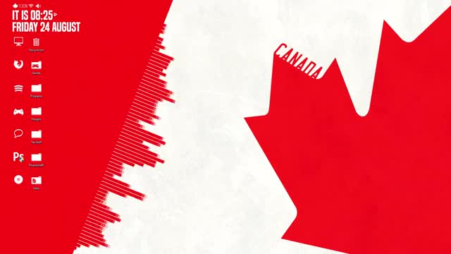 Watch Canada Rainmeter GIF on Gfycat. Discover more Canada, Computer, Desktop, Rainmeter, iprobablyspeltthatwrong, spelledactually, visualizer GIFs on Gfycat
