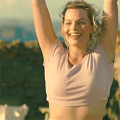 MargotRobbie, popular, Jumping GIFs