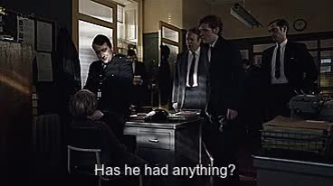 "Watch Endeavour 2x04, ""Neverland"" (2014) GIF on Gfycat. Discover more 2x04, Endeavour Morse, endeavour, fred thursday, jim strange, morse, neverland, roger allam, sean rigby, shaun evans GIFs on Gfycat"