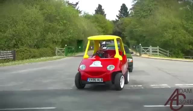 Watch and share Little Tikes Cozy Coupe: Adult-sized Road-going Version! GIFs on Gfycat