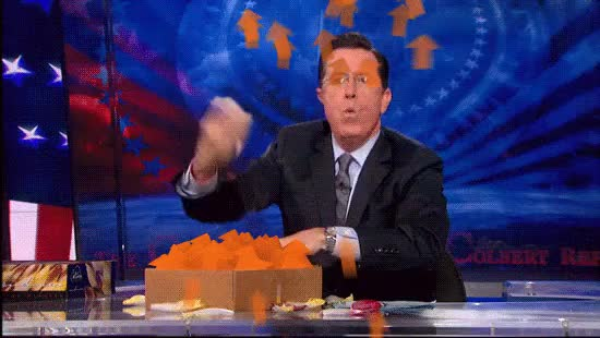 Watch Colbert box of upvotes Red GIF on Gfycat. Discover more related GIFs on Gfycat