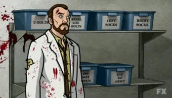 Watch and share Archer, Krieger, Piggly GIFs on Gfycat