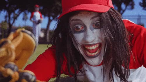 Watch this crazy GIF by The GIF Smith (@sannahparker) on Gfycat. Discover more baseball, california here we go, clown, crazy, crazy eyes, the garden GIFs on Gfycat