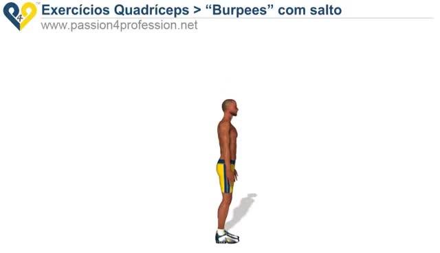 """Watch and share """"Burpees"""" Com Salto ( Exercícios Quadríceps - Pernas ) GIFs on Gfycat"""