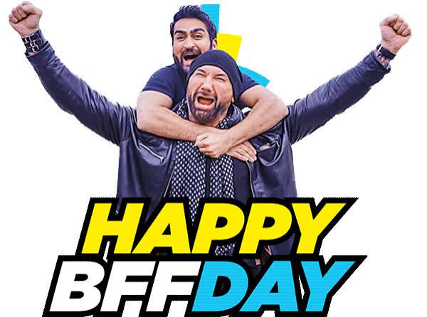 best friend, bff, dave bautista, friend, happy bff day, kumail nanjiani, stuber, stuber movie, Stuber Movie Happy BFF Day GIFs
