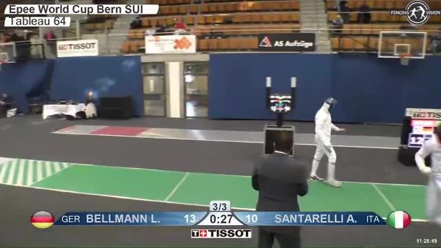 Watch BELLMANN Lr 14 GIF by Scott Dubinsky (@fencingdatabase) on Gfycat. Discover more gender:, leftname: BELLMANN Lr, leftscore: 14, rightname: iANTARELLl A, rightscore: 10, time: 00007014, touch: left, tournament:, weapon: epee GIFs on Gfycat