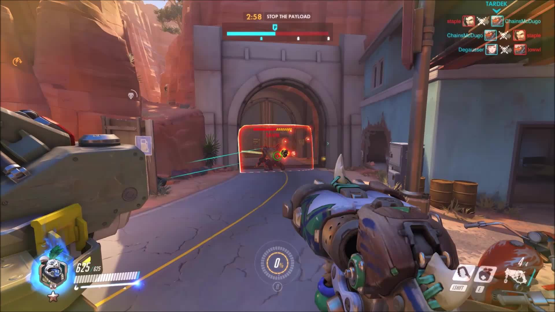 How to deal with a pocketed Reinhardt GIFs
