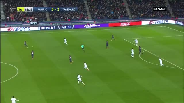 Watch and share Neymar's Great Dribbling + No-look Pass To Di Maria Who Misses Vs. Strasbourg GIFs on Gfycat