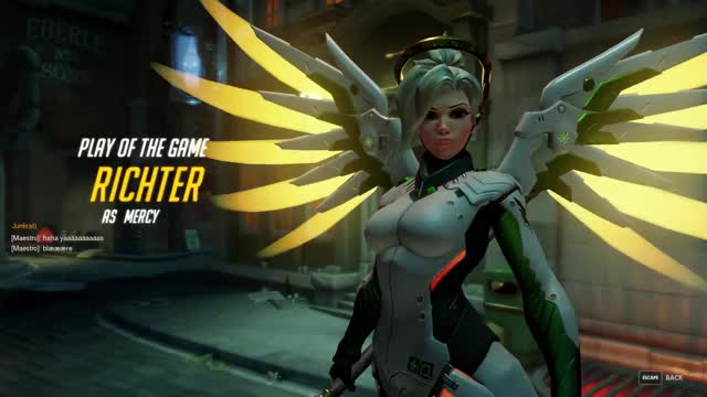 Overwatch mercy play of the game video