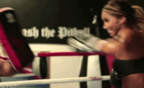 post woman kickboxing workout GIFs
