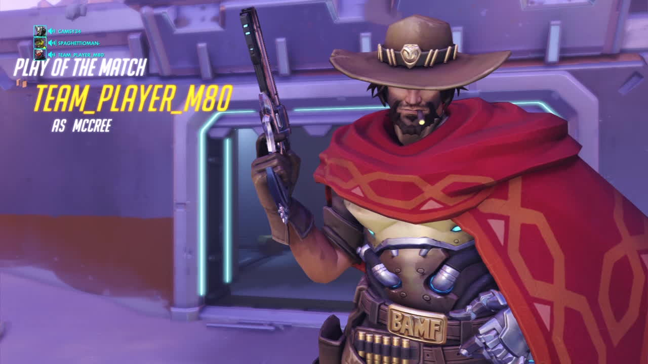 OWConsole, Overwatch, overwatch, This is by far the best accidental McCree ult I've ever seen GIFs
