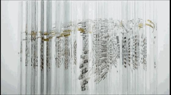 Rotating glass sculpture GIFs