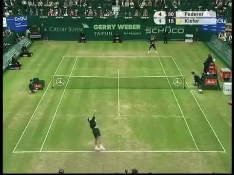 Watch and share Federer Kieffer Halle GIFs on Gfycat