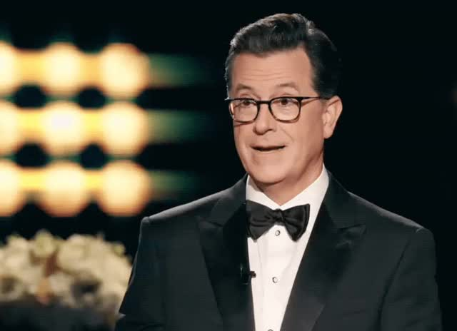 Watch and share Stephen Colbert GIFs and Tuxedo GIFs by Reactions on Gfycat