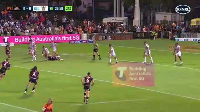 Watch and share Josh Reynolds One-legged Tackle Attempt GIFs by Alt on Gfycat