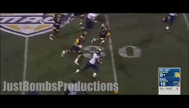 Watch The Human Joystick || North Carolina A&T RB Tarik Cohen Highlights ᴴᴰ GIF on Gfycat. Discover more related GIFs on Gfycat