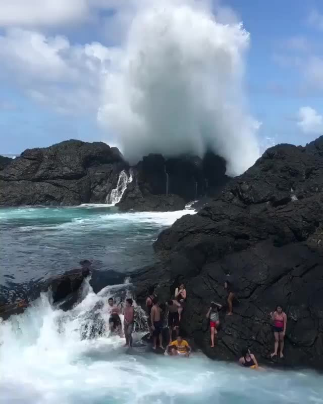 Watch ⠀ Laswitan Falls, is a unique lagoon with strong waves crashing on a 20-foot rocky sea wall GIF by Jackson3OH3 (@jackson3oh3) on Gfycat. Discover more related GIFs on Gfycat